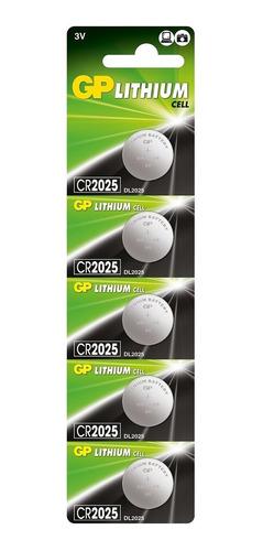 Imagem 1 de 7 de 5 Bateria Moeda Cr2025 3v Gp Chaves De Carro Vw Sensor Led