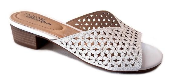 Zapato Mujer Modare Zueco Taco 5cm Ultra Conforto Metalizado