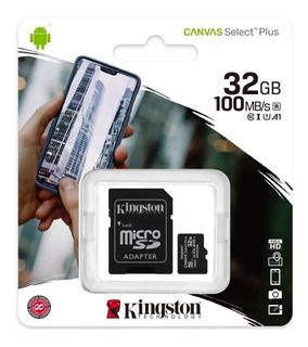 Memoria Micro Sd 32gb Kingston 100% Original 100 Mb/s