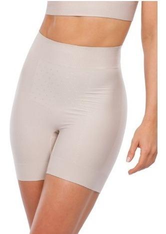 3 Shorts Shaper Modeladora Plie 60068 Cintura Alta Poliamida
