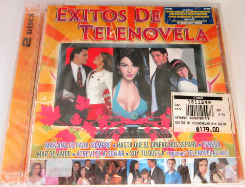 Varios Artistas - Exitos De Telenovela Nuevo Cd & Dvd