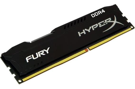 Memória Desktop Pc Ddr4 2x4gb 2400mhz Hyperx Fury Kingston