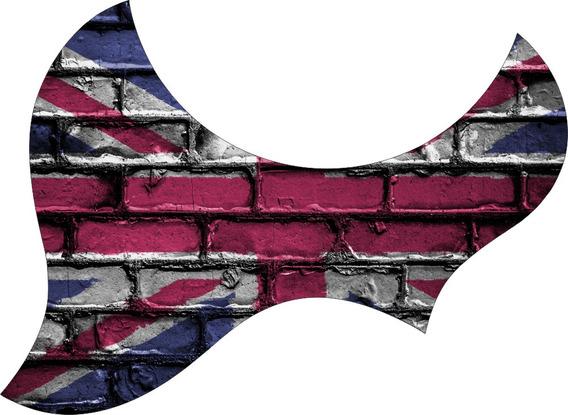Escudo Palheteira Resinada Violão Aço Jumbo Sônica Britain