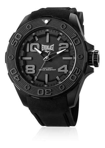 Relógio Pulso Everlast Masculino Silicone Preto E616