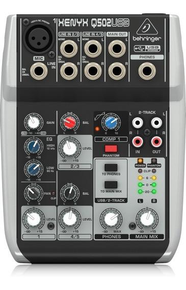 Q502usb Mesa De Som Behringer Xenyx Q502 Usb Mixer Q 502 Usb