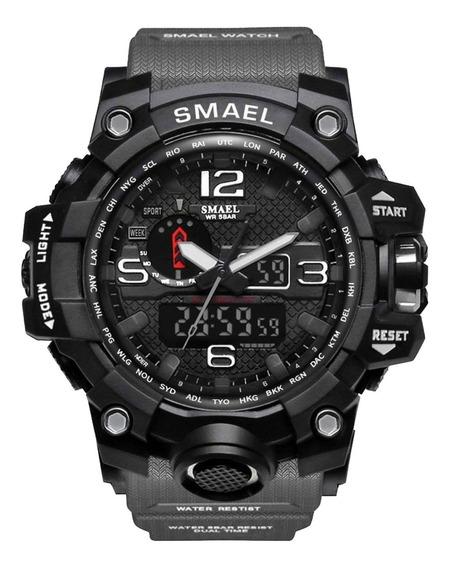 Relógio Smael 1545 Esporte Militar C/ Caixa Prova D