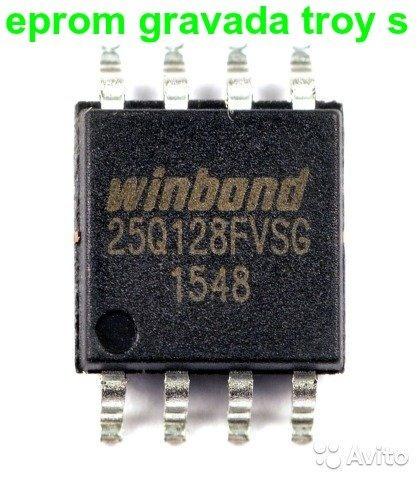 Chip Memoria Flash Gravada- Troy-s 25q128fvg 100% Testada