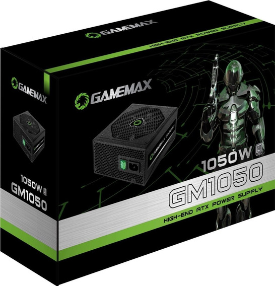 Fonte Gamer Gamemax 1050w 80 Plus Silver Semi Modular Gm1050