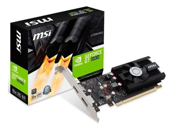 Placa De Video Geforce Nvidia Gt 1030 2gb Ddr4 - Msi Lp Oc