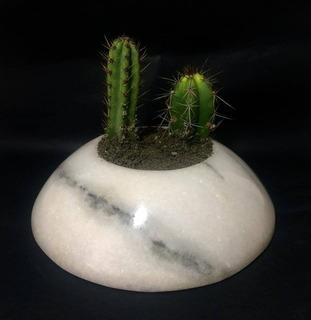 Porta Planta De Pedra Mármore Branco
