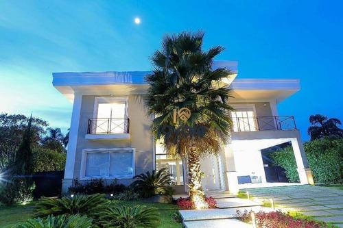 Magnífica Casa Automatizada Em Condomínio De Luxo Em Jacareí, 540m², 4 Suítes, Piscina, Avalia Permuta Sjcampos-sp - Ca1250