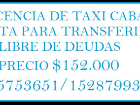 Licencia De Taxi Año 2005