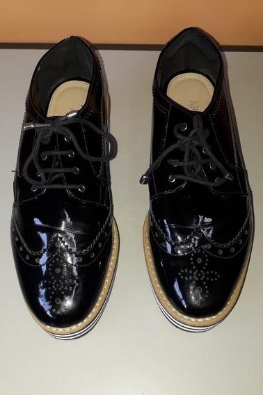 Sapato Tênis Preto Nº 37 Salto 5 Cm Solado Rasteiro