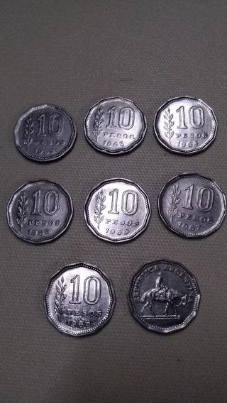 Moneda De 10 Pesos Argentina El Resero