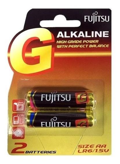 Pila Alcalina Aa Fujitsu 1.5v Blister (2 Unid) X 5