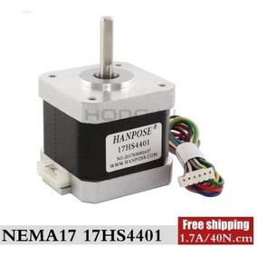 Motor De Passo Nema 17 4 Kgf 1,7 A - 17hs4401 Impressora 3d