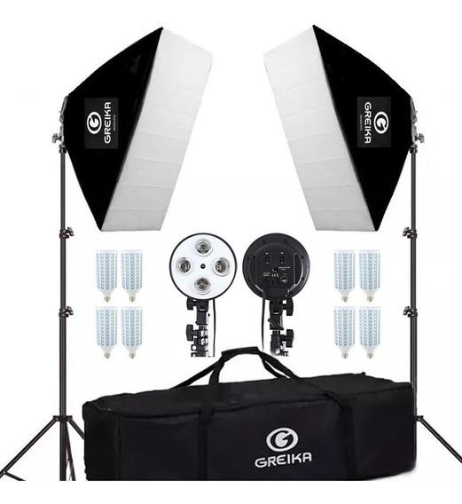 Kit Iluminação Led Youtubers E Estúdio Fotográfico Greika