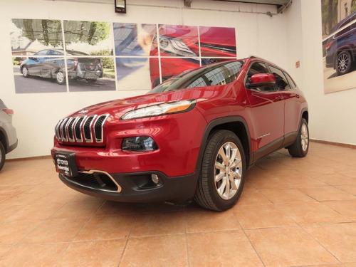 Imagen 1 de 12 de Jeep Cherokke Limited Plus 2017 Rojo Cereza