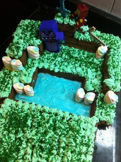 Torta Espada De Minecraft!!!!!!!! Tu Preferida!! O Pileta!!