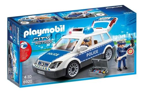 Playmobil 6920 City Action Coche De Policía Con Luces
