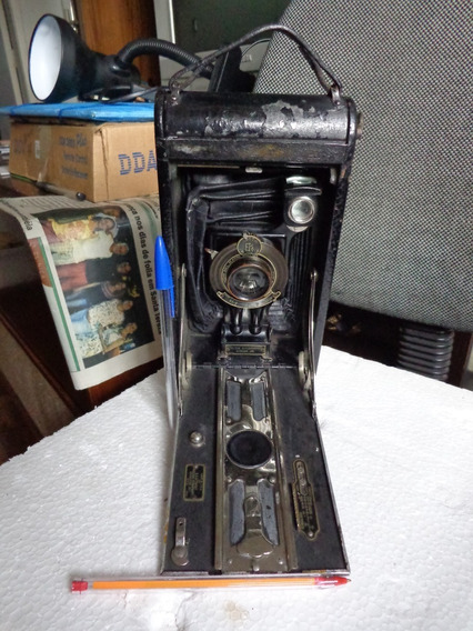 Máquina Fotográfica Kodak Júnior 3a 1912 Fole Func. Vídeo