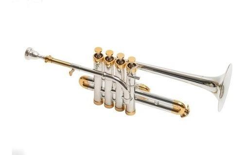 Trompeta Piccolo Custom Parquer Bb 4 Pistones +estuche Cuota