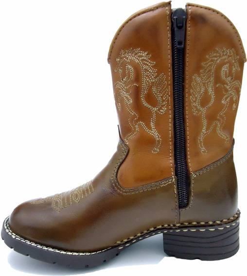 Bota Country Infantil Kids Texana Peão Criança Cowboy Rodeio