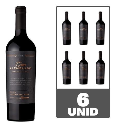 Imagen 1 de 4 de Vino Gran Alambrado Malbec Cabernet Sauvignon 750ml Caja X6