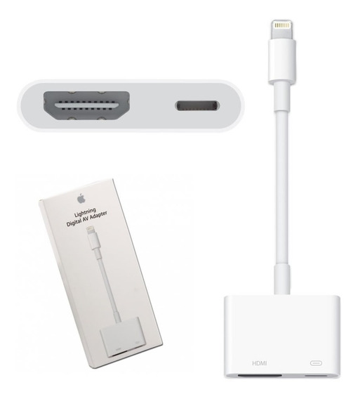 Adaptador Chromecast iPhone 6 7 8 Tv Hdmi iPad iPod Cabo