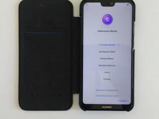 Huawei P20 Lite + Case Nillkin Couro - Usados
