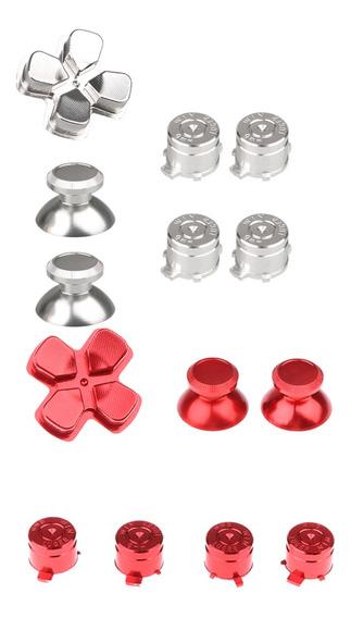 Metal Abxy Botões Ux26 Thumbstis D Pad Mod Set Para Ps4 Verm