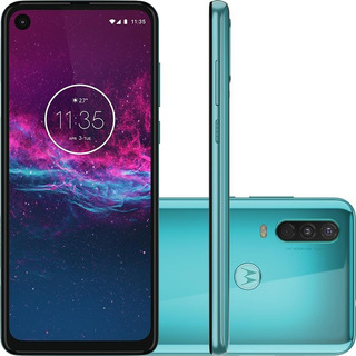 Celular Motorola Moto One Action Xt2013 128 Gb Aquamarine