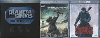El Planeta De Los Simios Saga 9 Películas Bluray + Bluray 3d