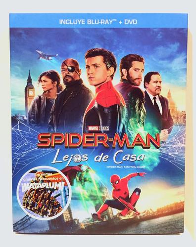 Spider-man: Lejos De Casa  Bluray + Dvd Nuevo Original