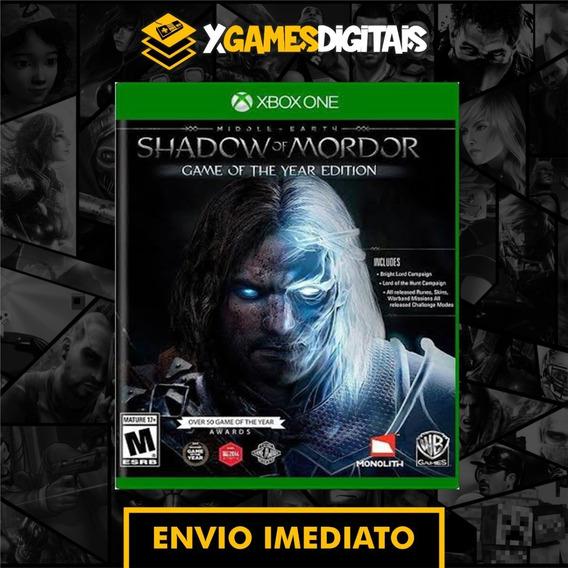 Shadow Of Mordor Xbox One Midia Digital + 1 Jogo Grátis