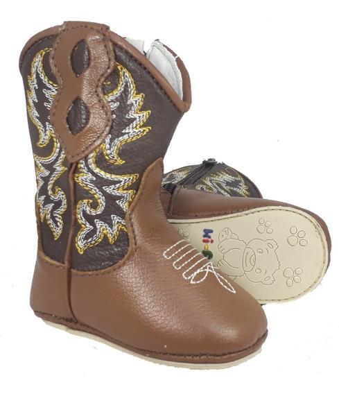 Bota Bebê Country Texana Menino Menina Em Couro Rodeio 1820