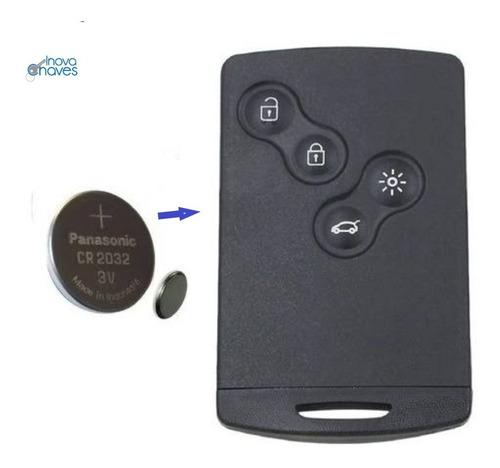 Imagem 1 de 3 de Bateria Original P/ Chave Cartão Renault Captur Fluence