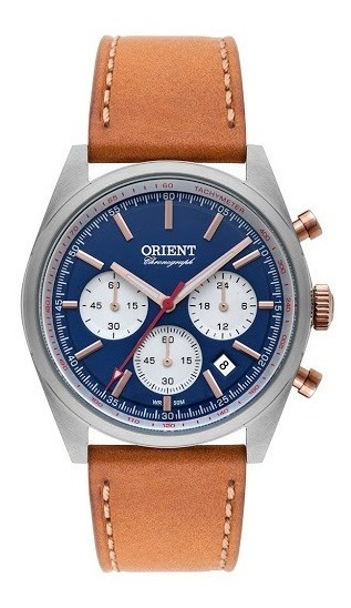 Relógio Orient Masculino Mtscc030 Cronógrafo Nfe + Garantia