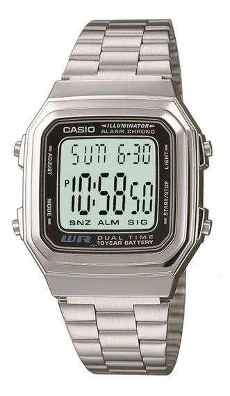 Relógio Masculino Casio Retro A178wa-1adf Prata + Nf
