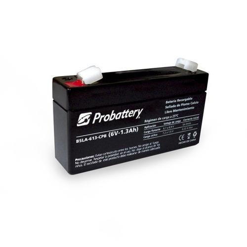 Batería Electrolito Absorbido 6v 1,3a 1.3ah Probattery