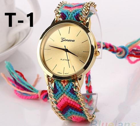 Relógio Pulseira Vintage Feminino Geneva, Acompanha Caixa
