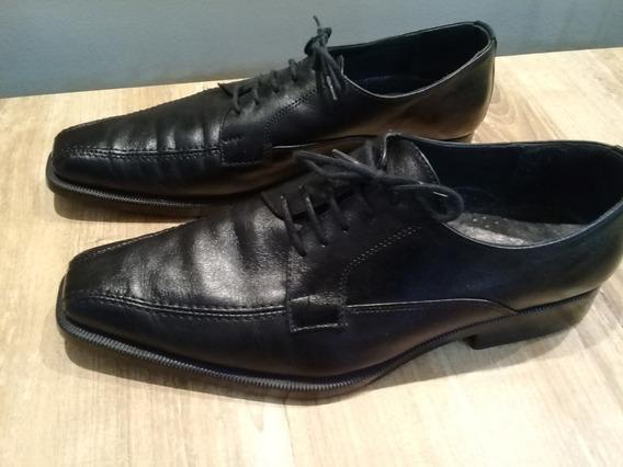 Zapatos De Hombre Cuero -negro