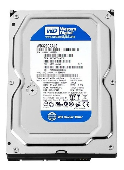 Hd 3,5 Sata 320gb 7200rpm 8mb Wd