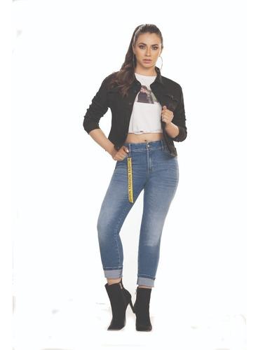 Imagen 1 de 2 de Jean Dama Ochentero Gran Jeans  Tiro Medio Bota Tubo