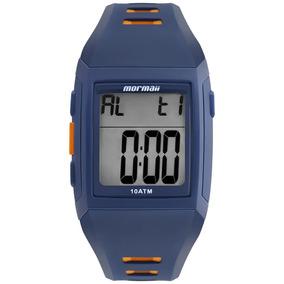 Relógio Mormaii Mo967ab/8a Mo967 Ab Azul E Laranja Digital