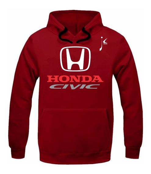 Moletom Canguru Honda Civic Carro Moleton Blusa De Frio Race