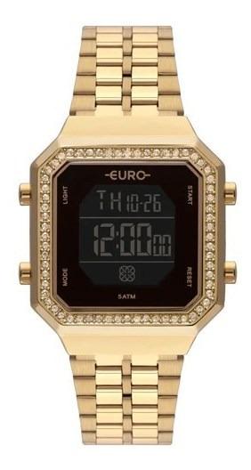 Relógio Euro Fit Digital Feminino Dourado Eubjk032ab/4p