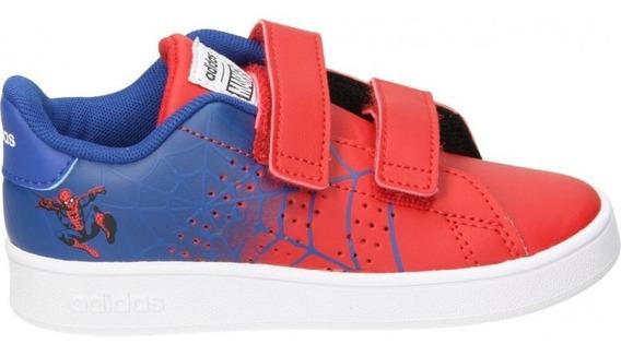 Tenis adidas Bb Advantage Spiderman Rojos Eg7903