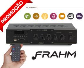 Amplificador Frahm Para Som Ambiente Slim 1000 Usb/sd/fm