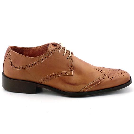Zapato Vestir Hombre Acordonado Cuero Briganti - Hcac00833